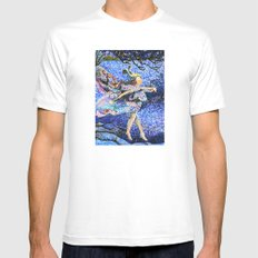 Chasing Colors Mens Fitted Tee White MEDIUM