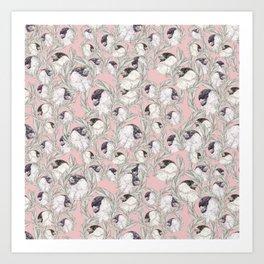 Bullfinch Sqaud Art Print