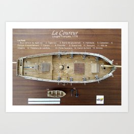 Le Coureur, Le Pont Art Print