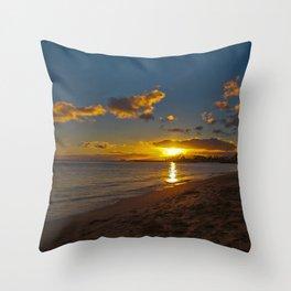"""""""Paradise Sunset 2"""" Throw Pillow"""
