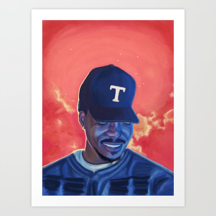 Chance The Rapper Coloring Book Art Print By Laurensnarski Society6
