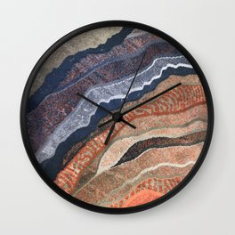 Abstract Waves of Color Wall Clock