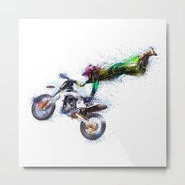 Motorbike Sport Game Cross Metal Print