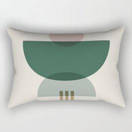 Emerald Abstract Half Moon 3 Rectangular Pillow