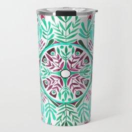 Vibrant floral mandala Travel Mug