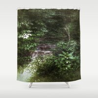 woodland Shower Curtains featuring Woodland by Geni