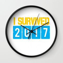 I survived 2017 Wall Clock