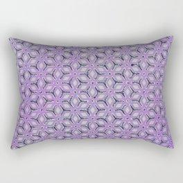Geometric Florals Purple Rectangular Pillow