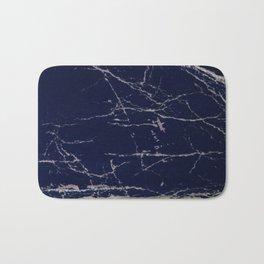Blue Marble Crease Texture Design Bath Mat