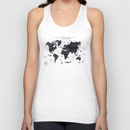 The World Map Unisex Tank Top