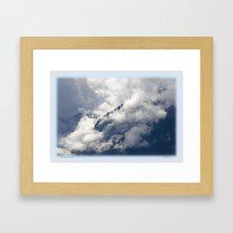 MISTY ISLANDS IN THE SKY Framed Art Print