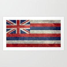 State flag of Hawaii - Vintage version Art Print