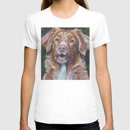 Nova Scotia Duck Tolling Retriever dog portrait from an original painting by L.A.Shepard T-shirt