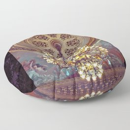 Victorian Painted Ceiling Floor Pillow