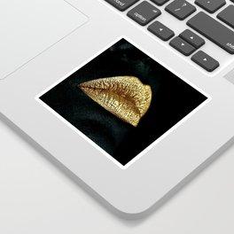 Golden Lips Sticker