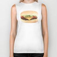 hamburger Biker Tanks featuring Hamburger by Tyler Keff Beasley