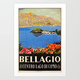 Italy Bellagio Lake Como Art Print