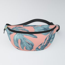 Island Life Teal on Coral Pink Fanny Pack