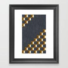 Denim with Gold Studs Framed Art Print