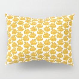 Gold Crown Lynn Swans Pillow Sham