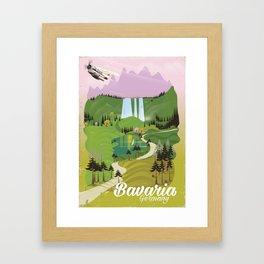 Bavaria Germany travel poster Framed Art Print