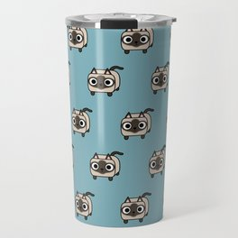Cat Loaf - Siamese Kitty with Crossed Eyes Travel Mug