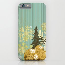 Christmas decoration background iPhone Case