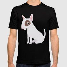 Bull Terrier - Cute Dog Series Black MEDIUM Mens Fitted Tee