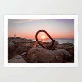 Crete Sunset Art Print