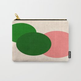 Living Coral Green Vintage Mod Circles Carry-All Pouch