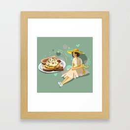 Ice Cream Sandwich With Pineapple and Coconut Framed Art Print