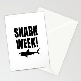 Shark Week, black text on white Stationery Cards