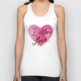 I allow love Unisex Tank Top