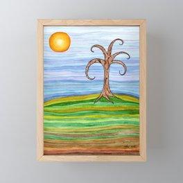 Lone Tree in Autumn Framed Mini Art Print