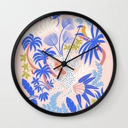 Rainforest Leopard Wall Clock