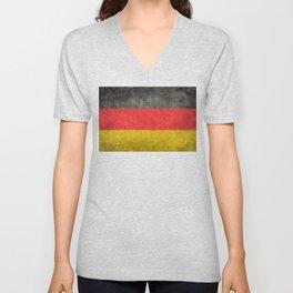 German flag, grungy textures Unisex V-Neck