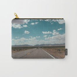 cows on the open road Carry-All Pouch