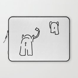 pair of elephants say goodbye Laptop Sleeve