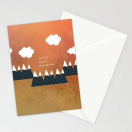 You Will Make It Through This 3 Stationery Cards
