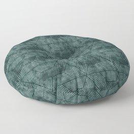 cadence triangles - dark green Floor Pillow