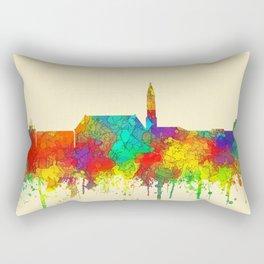 Cheyenne, Wyoming Skyline - SG Rectangular Pillow