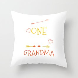 One Thank Grandma Happy Thanksgiving Day Throw Pillow
