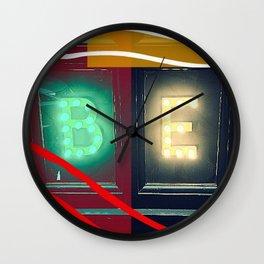 ''BE'' .. Inspirational! - New work 2017 :-) Wall Clock