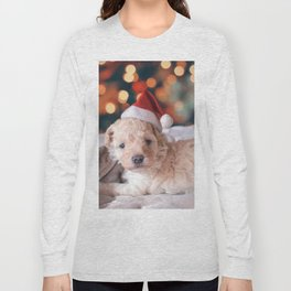 Santa Dog (Color) Long Sleeve T-shirt