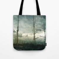 sailboat Tote Bags featuring Sailboat by Fine2art