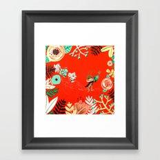 Caminito de la Escuela Framed Art Print