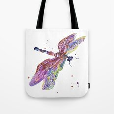 Dragonfly, dragonfly painting, romantic bugs, purple decor, batik effect Tote Bag