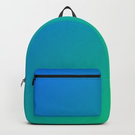 Blue And Green Gradient Pattern Backpack
