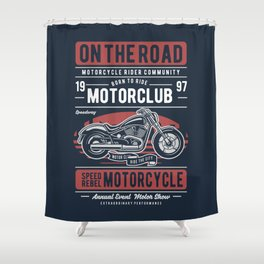 Motorcycle On The Road Shower Curtain