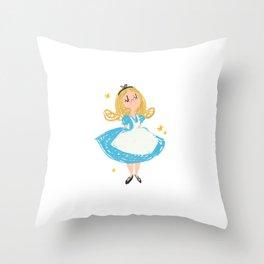Curiouser and Curiouser Throw Pillow